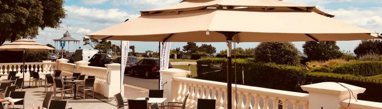 Folkeste Market Umbrellas Inside Well Liked Patio & Al Fresco Dining – Best Western Clifton Hotel Folkestone (View 23 of 25)