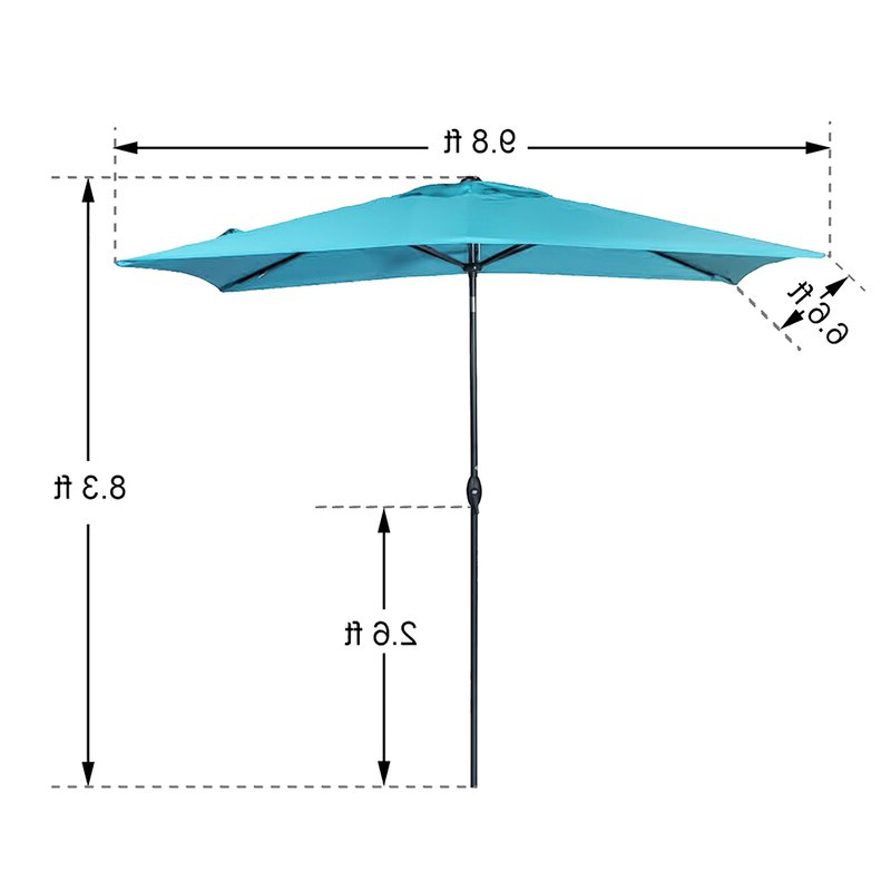 Fordbridge 7' X 10' Rectangular Market Umbrella With Most Popular Fordbridge Rectangular Market Umbrellas (View 4 of 25)