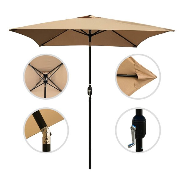 Fordbridge Rectangular Market Umbrellas Regarding Most Popular Reviews  (View 23 of 25)
