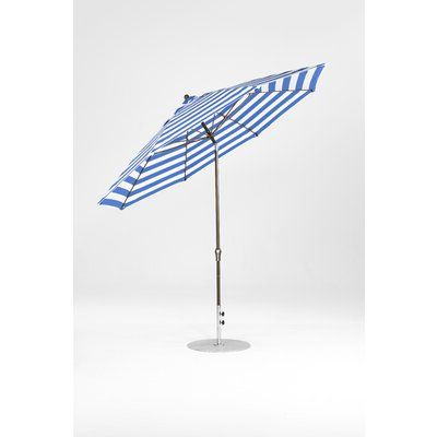 Frankford Umbrellas 11' Market Umbrella Fabric: Blue And White Pertaining To Latest Lagasse Market Umbrellas (View 21 of 25)