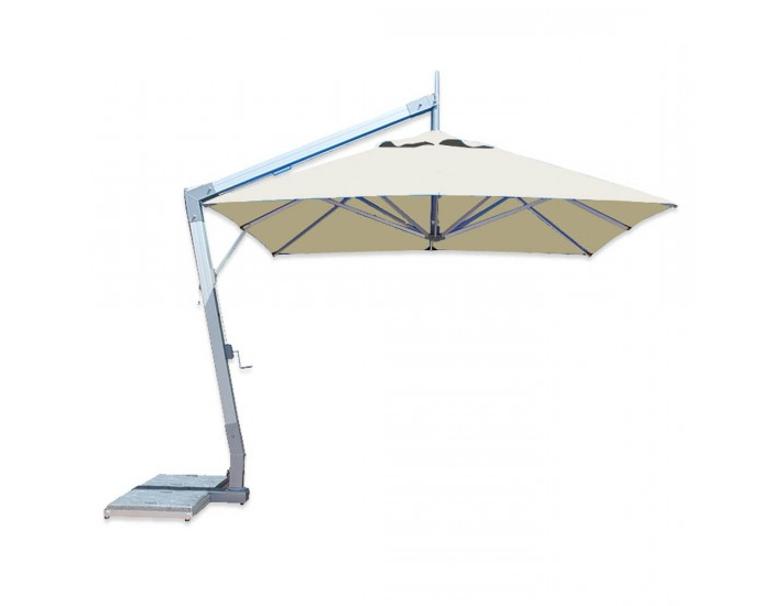 Frederick Square Cantilever Umbrellas Throughout Widely Used Hurricane Aluminum Cantilever Umbrella From Bambrella (View 15 of 25)