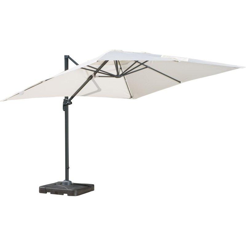 Gemmenne Square Cantilever Umbrellas Inside Favorite Boracay 10' Square Cantilever Umbrella (View 8 of 25)