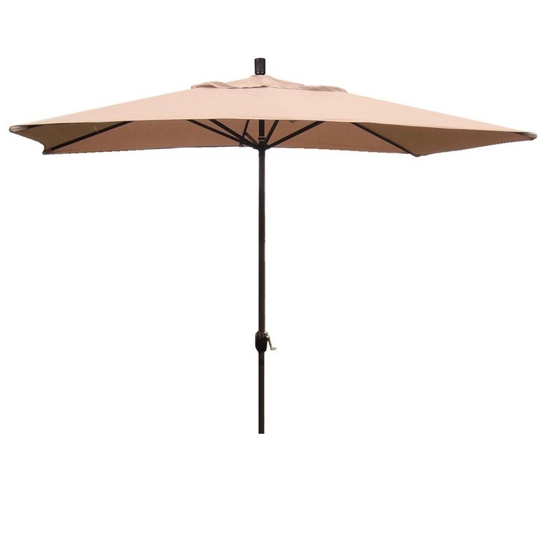 Grieve 10' X 6' Rectangular Market Umbrella Within Popular Sherlyn Rectangular Market Umbrellas (View 7 of 25)