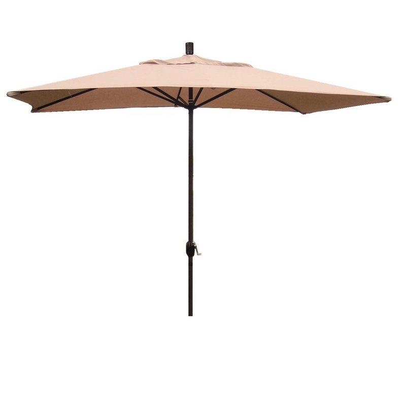 Grieve 10' X 6' Rectangular Market Umbrella Within Popular Sherlyn Rectangular Market Umbrellas (View 4 of 25)