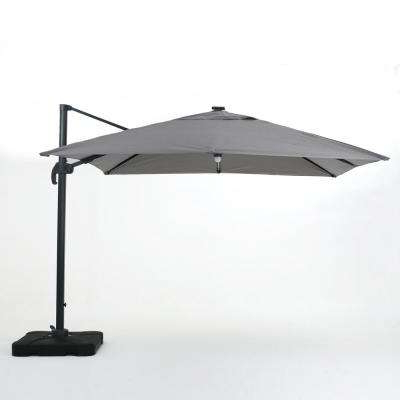 Griselda Solar Lighted  Rectangular Market Umbrellas Inside Well Liked 9.71 Ft (View 10 of 25)