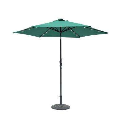 Griselda Solar Lighted  Rectangular Market Umbrellas With Regard To Current 9 Ft (View 14 of 25)