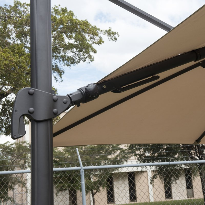 Grote Liberty Aluminum Square Cantilever Umbrella Regarding 2017 Grote Liberty Aluminum Square Cantilever Umbrellas (View 14 of 25)