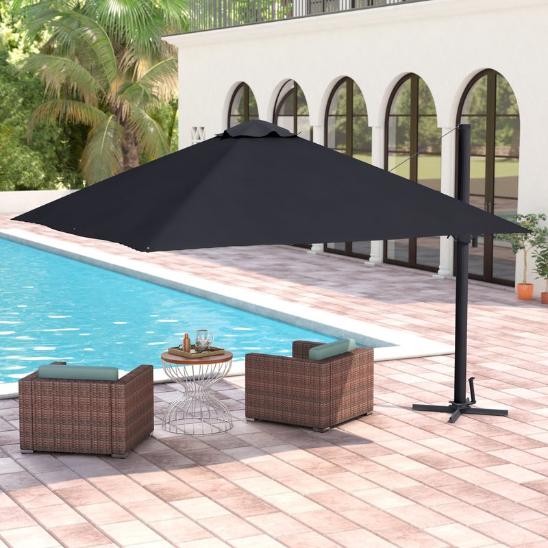 Grote Liberty Aluminum Square Cantilever Umbrella Throughout Most Current Spitler Square Cantilever Umbrellas (View 17 of 25)