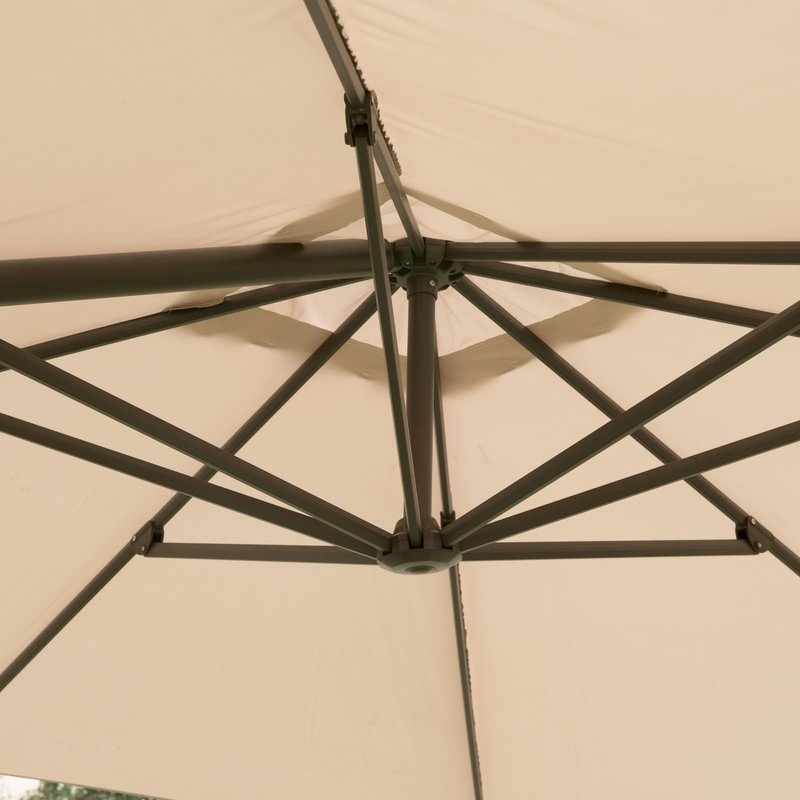 Grote Liberty Aluminum Square Cantilever Umbrella Within Fashionable Grote Liberty Aluminum Square Cantilever Umbrellas (View 11 of 25)