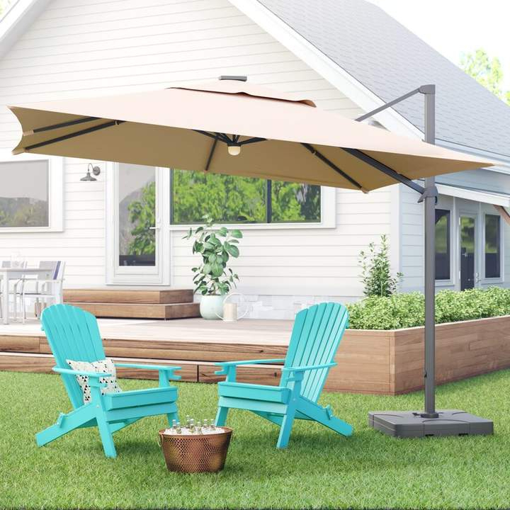 Grote Liberty Aluminum Square Cantilever Umbrellas Throughout Best And Newest Jendayi Square Cantilever Umbrella In  (View 11 of 25)