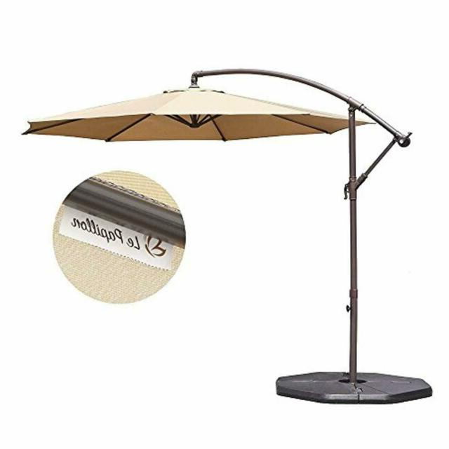 Grote Liberty Aluminum Square Cantilever Umbrellas With Regard To Famous Le Papillon 10 Ft Offset Hanging Patio Umbrella Aluminum Outdoor Cantilever   (View 13 of 25)