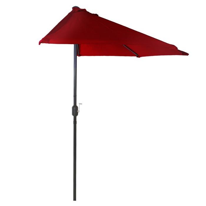 Half Round 9' Market Umbrella Inside Best And Newest Monty Half Market Umbrellas (Gallery 9 of 25)