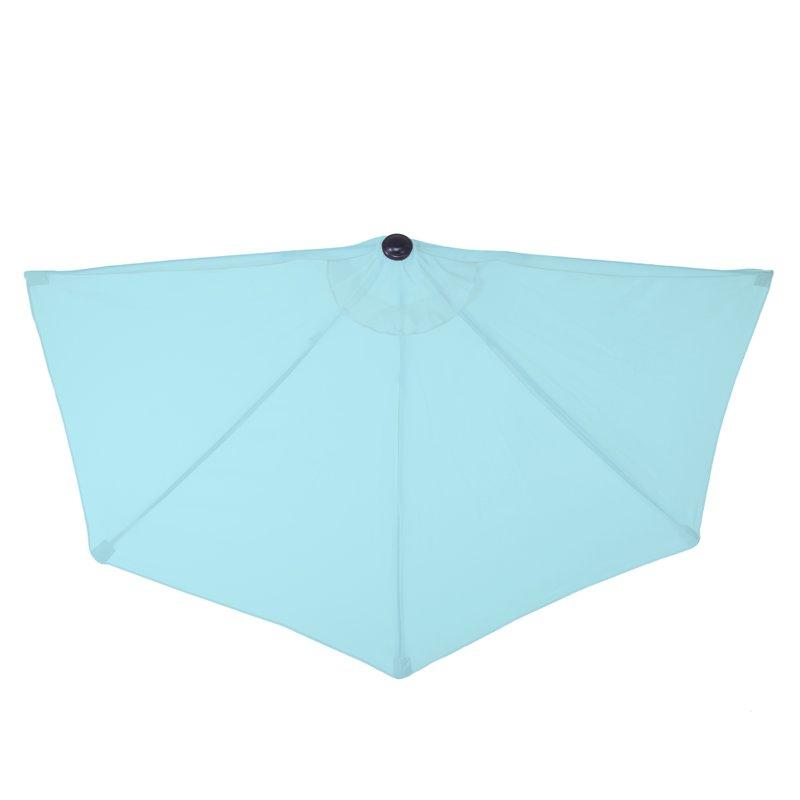Half Round 9' Market Umbrella Inside Most Recently Released Half Round Market Umbrellas (Gallery 22 of 25)