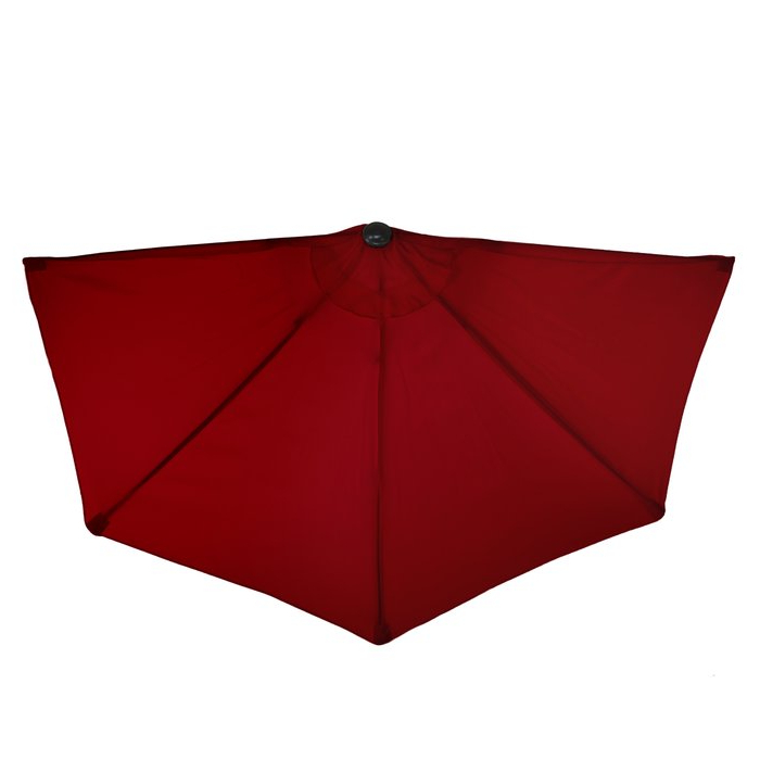 Half Round Market Umbrellas with regard to Newest Half Round 9' Market Umbrella
