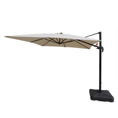 Hampton Bay Commercial 10 Ft. X 10 Ft. Aluminum Square Offset within Well-liked Bondi Square Cantilever Umbrellas