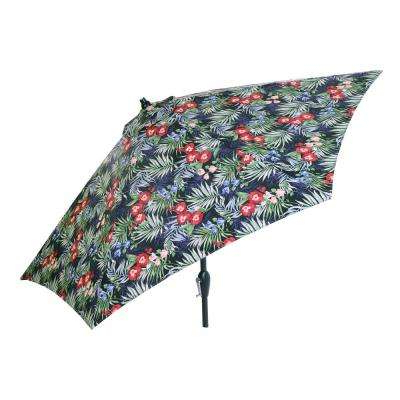 Hampton Bay – Tropical – Patio Umbrellas – Patio Furniture – The Intended For Current Tropical Patio Umbrellas (Gallery 24 of 25)
