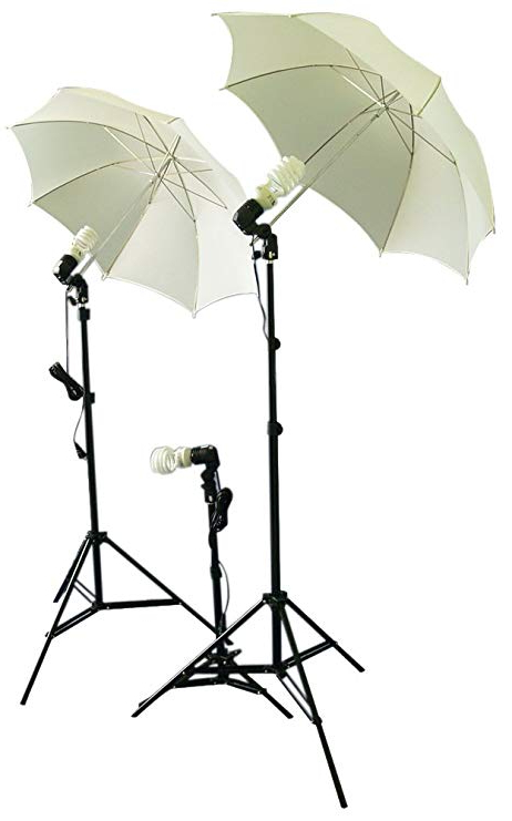 Hatten Market Umbrellas Throughout Recent Cowboystudio Photography/video Studio Umbrella Continuous Lighting Kit With  Three Day Light Cfl Bulbs & Two Diffuser Umbrellas For Product, Portrait, (Gallery 24 of 25)