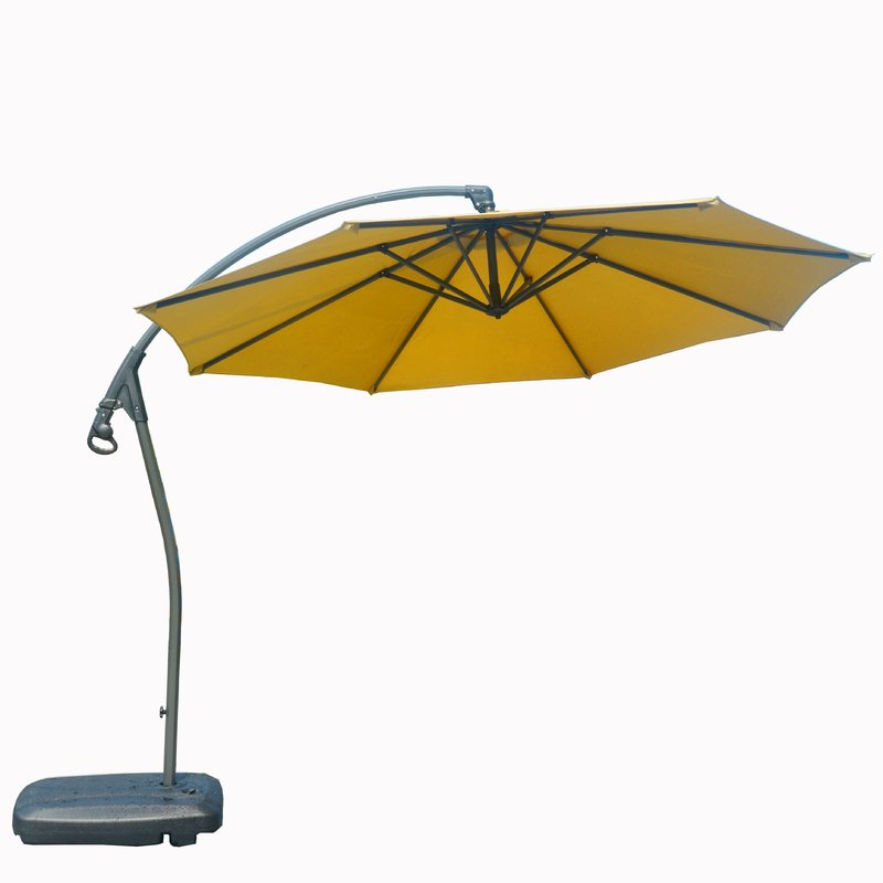Hemmer 10' Cantilever Umbrella Intended For Fashionable Yajaira Cantilever Umbrellas (View 5 of 25)