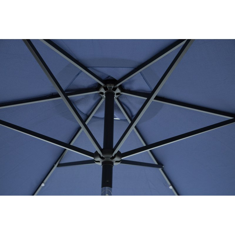 Herlinda Solar Lighted Market Umbrellas For Most Recent Herlinda Solar Lighted 9' Market Umbrella (View 3 of 25)