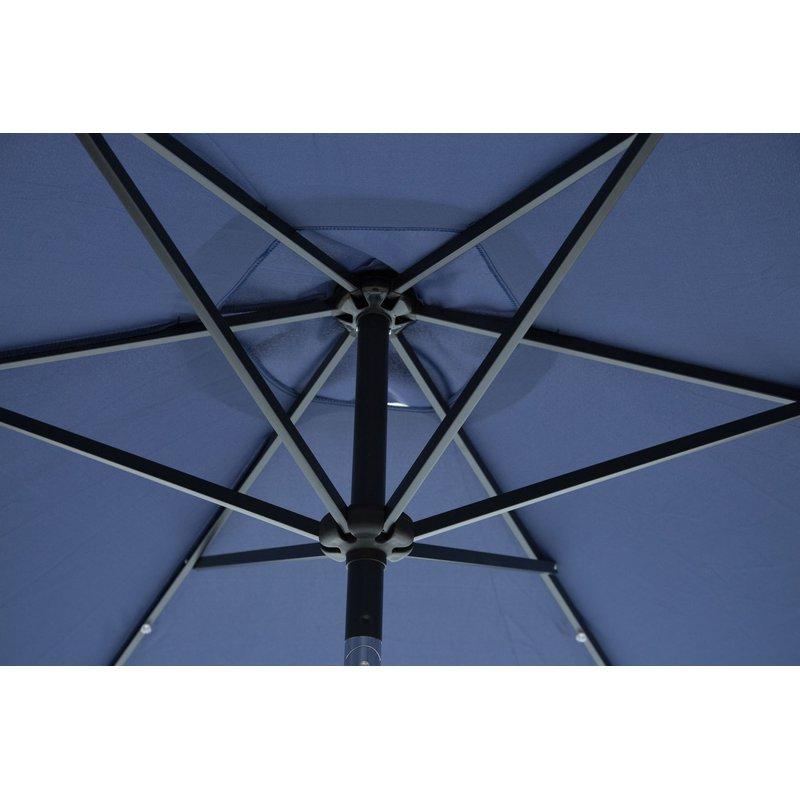 Herlinda Solar Lighted Market Umbrellas For Most Recent Herlinda Solar Lighted 9' Market Umbrella (Gallery 3 of 25)