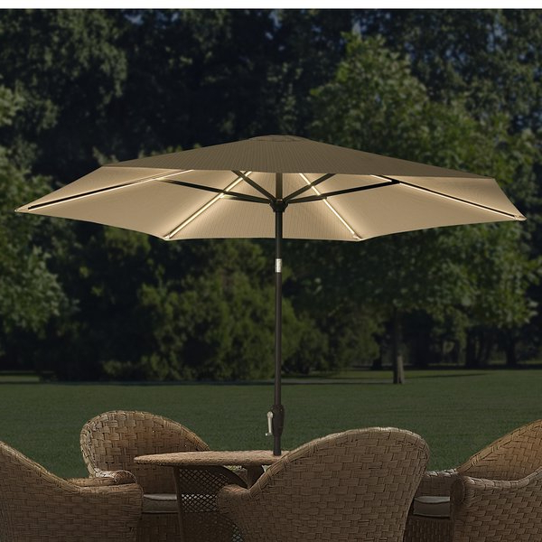 Hettie Solar Lighted Market Umbrellas For Widely Used Led Umbrella (Gallery 7 of 25)