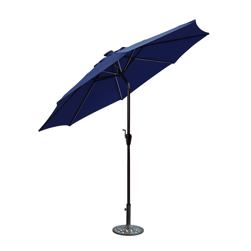 Hettie Solar Lighted Market Umbrellas With Regard To Newest 8.5' Lighted Umbrella (Gallery 2 of 25)