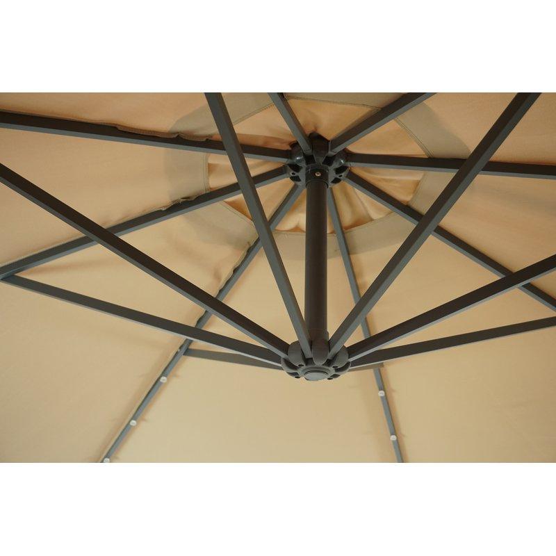 Hilma Solar 10' Cantilever Umbrella With Regard To Current Hilma Solar Cantilever Umbrellas (View 4 of 25)