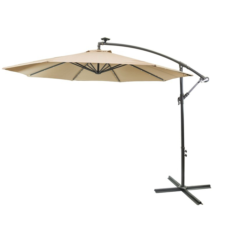Hilma Solar 10' Cantilever Umbrella Within Best And Newest Hilma Solar Cantilever Umbrellas (Gallery 3 of 25)