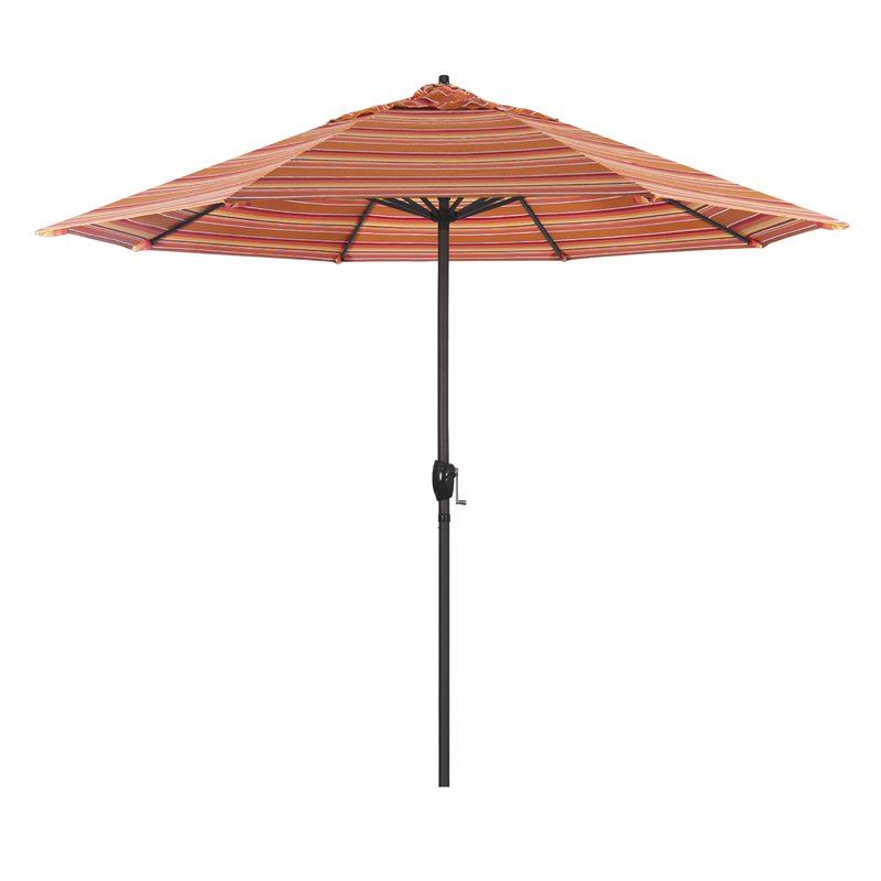 Hookton Crank Market Umbrellas Within 2017 Cardine 9' Market Sunbrella Umbrella (View 15 of 25)