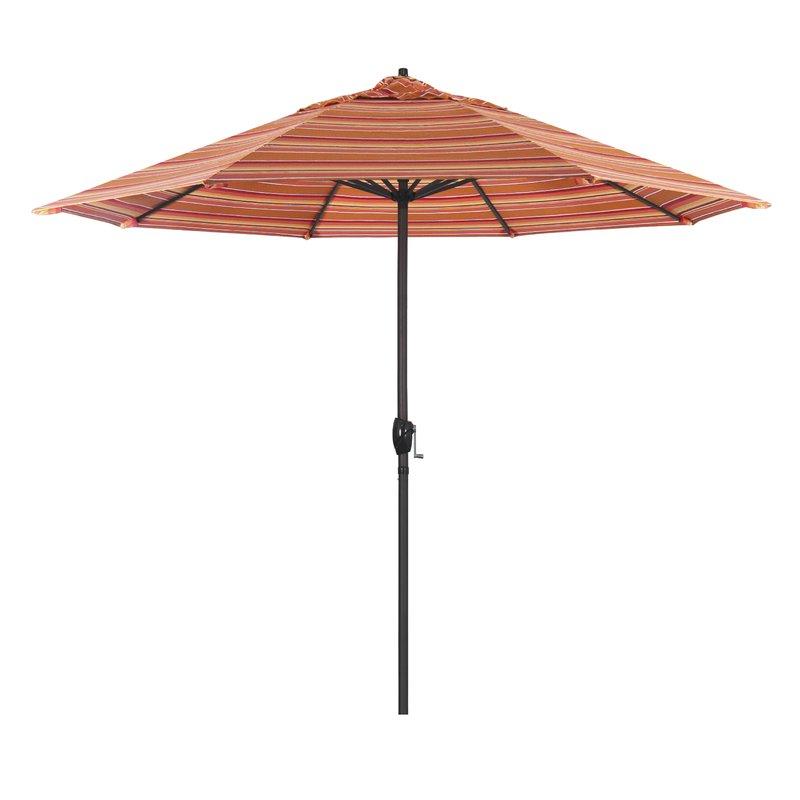 Hookton Crank Market Umbrellas Within 2017 Cardine 9' Market Sunbrella Umbrella (View 15 of 25)
