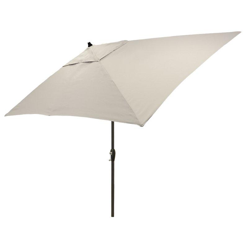 Hulme Solid 6.5' X 10' Rectangular Market Umbrella Within Recent Solid Market Umbrellas (Gallery 18 of 25)