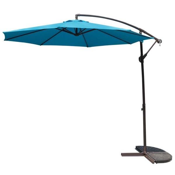 Hurt Market Umbrellas in 2017 10 Feet Patio Umbrella Aluminum Table Market Hanging Umbrellas, 8 Steel  Ribs, Cross Base And Crank, Blue 1 Unit / Box