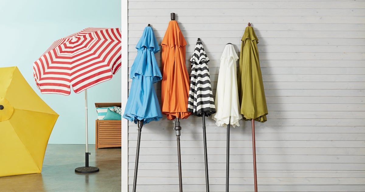 Hurt Market Umbrellas Throughout 2017 Choose The Best Patio Umbrella With These Expert Tips (Gallery 22 of 25)