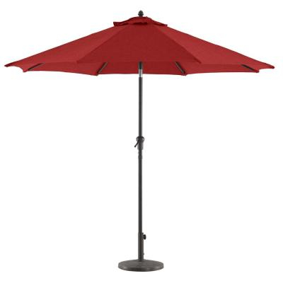 Hurt Market Umbrellas with Best and Newest Hampton Bay 9 Ft. Steel Market Crank Tilt Patio Umbrella In Trellis