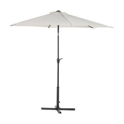 Hwang Patio Half 4.5' X 9' Rectangular Market Umbrella