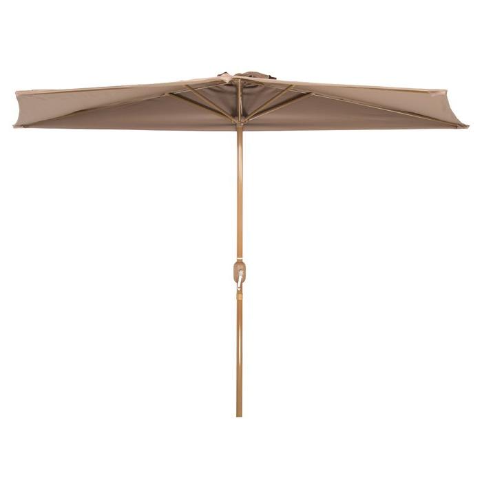 Hwang Patio Half 4.5' X 9' Rectangular Market Umbrella With Most Up To Date Sheehan Market Umbrellas (Gallery 4 of 25)