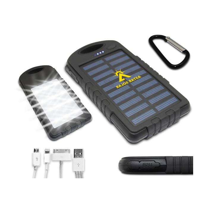Icarus 12 Led 5000Mah Solar Powerbank intended for 2018 Hettie Solar Lighted Market Umbrellas