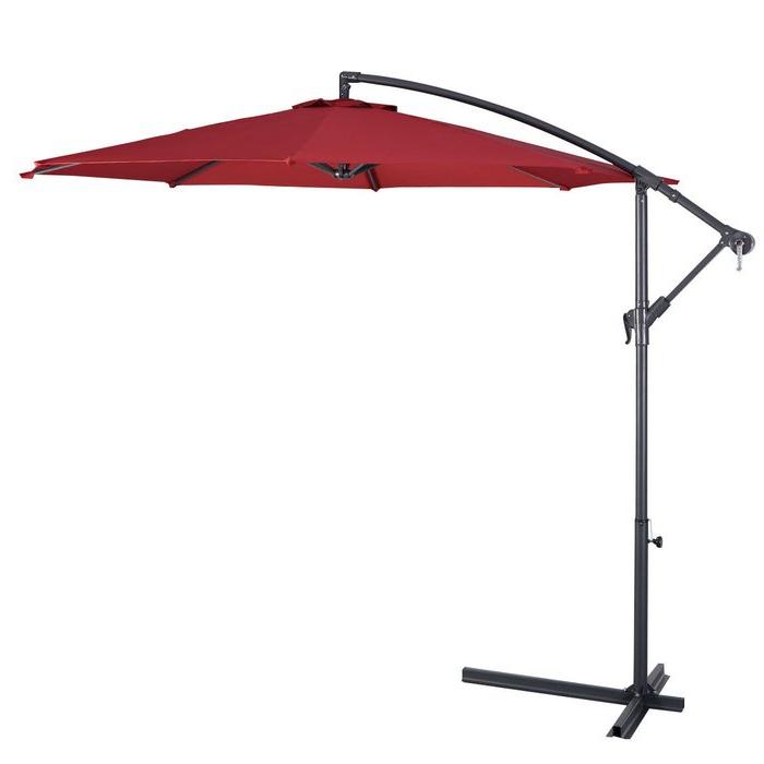 Imogen Hanging Offset 10' Cantilever Umbrella for Well-known Imogen Hanging Offset Cantilever Umbrellas
