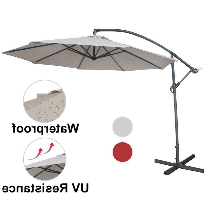 Irven 10' Cantilever Umbrella for Most Recently Released Irven Cantilever Umbrellas