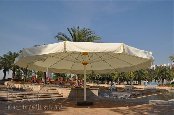 Irven Cantilever Umbrellas For Most Recent 7 Meter Round Deluxe Big Garden Sun Umbrella Parasol Patio Cover (View 18 of 25)
