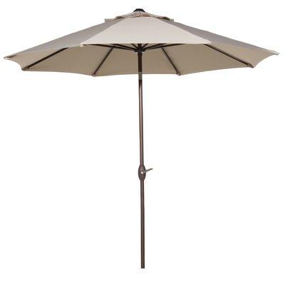 Irven Cantilever Umbrellas regarding 2017 Freeport Park Isom 11' Market Umbrella Fabric Color: Beige In 2019