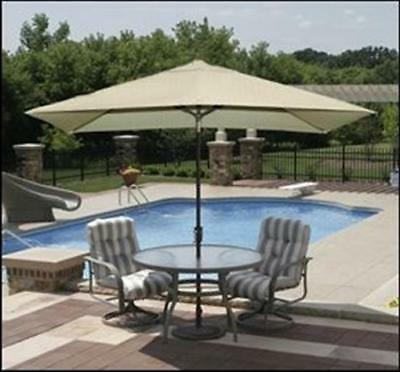 Island Umbrella Adriatic 10 X 6.5 Ft. Olefin Rectangular Market regarding Most Popular Dena Rectangular Market Umbrellas