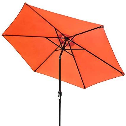 Isom Market Umbrellas with Preferred Sorbus Outdoor Umbrella, 10 Ft Patio Umbrella With Tilt Adjustment And  Crank Lift Handle, Perfect For Backyard, Patio, Deck, Poolside, And More