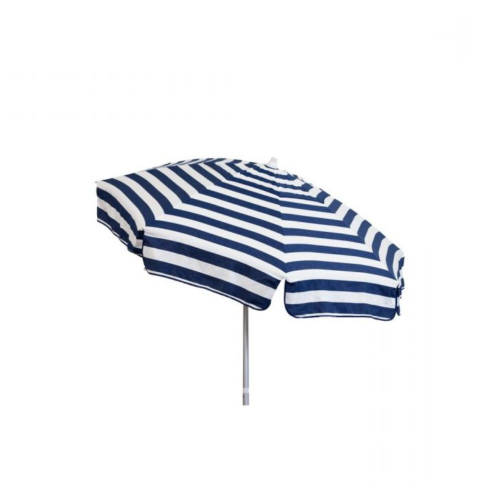 Italian 7.5 Ft. Aluminum Drape Tilt Patio Umbrella In Blue And White Inside Newest Italian Drape Umbrellas (Gallery 13 of 25)