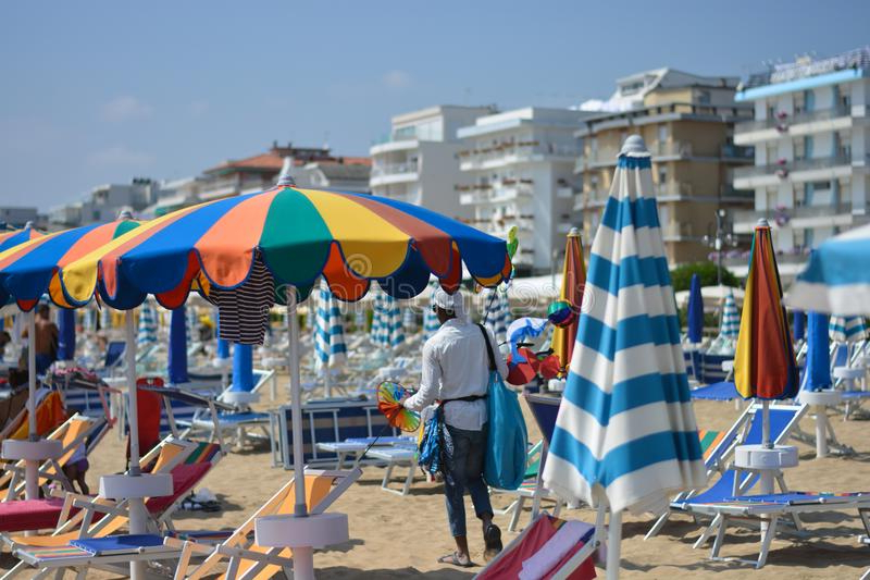 Italian Beach Umbrellas Within Well Known Beach Umbrellas Colored Like The Rainbow Stock Image – Image Of (View 16 of 25)