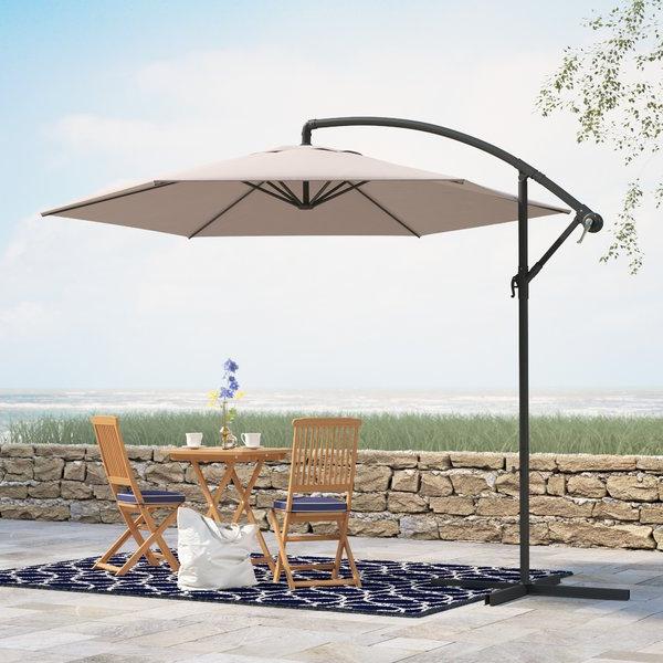 Iyanna Cantilever Umbrellas for Fashionable Alyssa 10' Cantilever Umbrella