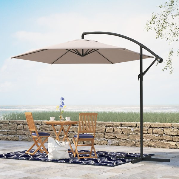 Iyanna Cantilever Umbrellas With Newest Alyssa 10' Cantilever Umbrella (View 10 of 25)
