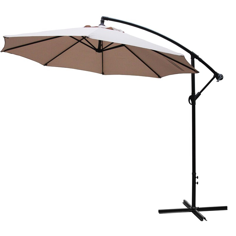 Iyanna Cantilever Umbrellas with regard to Well-liked Iyanna 10' Cantilever Umbrella