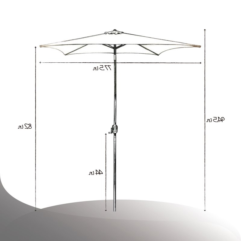 Iyanna Market Umbrellas within Most Recent Bradford Patio 6.5' Square Market Umbrella