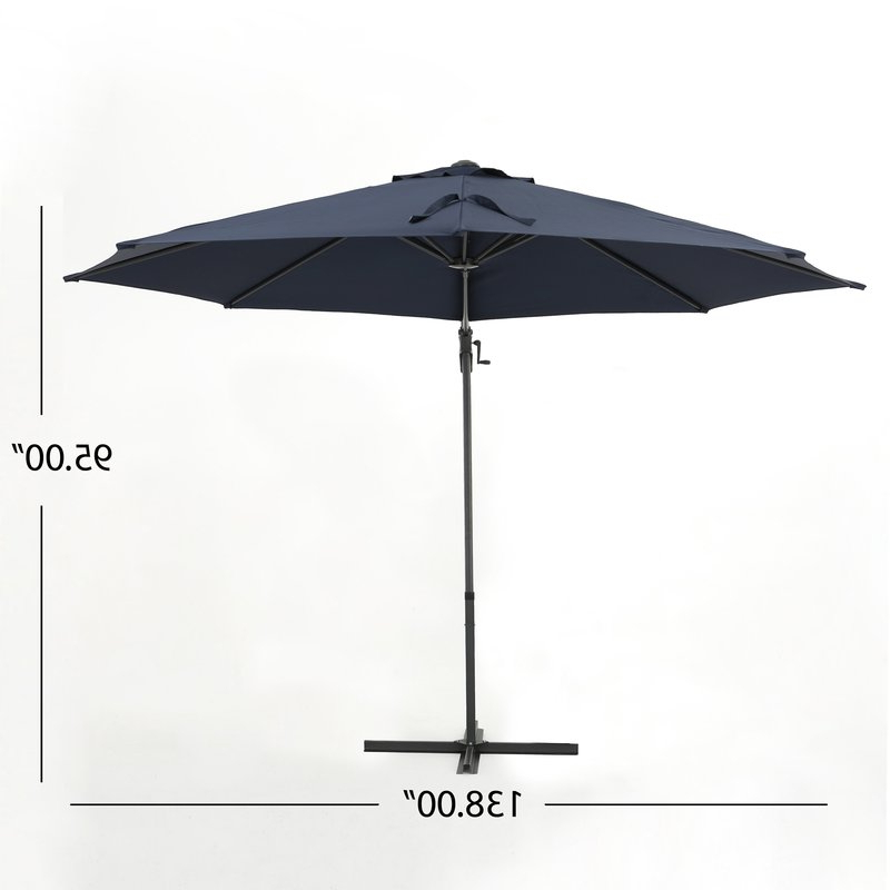 Jaelynn 9.5' Cantilever Umbrella Pertaining To Most Current Jaelynn Cantilever Umbrellas (Gallery 8 of 25)